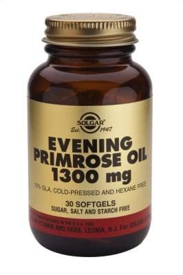 МАСЛО ОТ ВЕЧЕРНА ИГЛИКА - облекчава предменструалните симптоми - капсули 1300 мг. х 30, SOLGAR