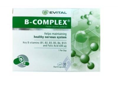 Б - КОМПЛЕКС - поддържа нервната система в добро здраве - капсули х 30, EVITAL