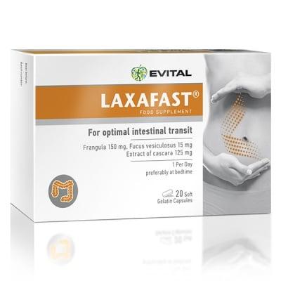ЛАКСАФАСТ - нормализира перисталтиката на чревната система -  капсули x 20, EVITAL
