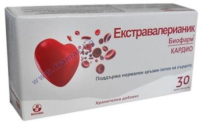 ЕКСТРАВАЛЕРИАНИК КАРДИО - 30табл., Biofarm