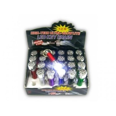 Фенерче със седем LED светлини, батерии