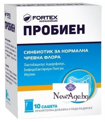 ПРОБИЕН - синбиотик за нормална чревна флора *10 сашета, ФОРТЕКС