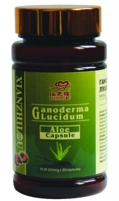 ГАНОДЕРМА ЛУЦИДУМ + АЛОЕ - гъбата на безсмъртието - капсули 250 мг. х 90, TNT 21