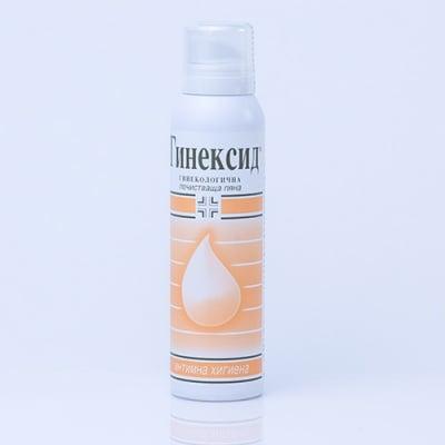 ГИНЕКСИД ИНТИМНА ПОЧИСТВАЩА ПЯНА с 4.5 pH за ежедневна интимна хигиена - 150 мл.