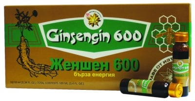 ЖЕН-ШЕН 600 - действа стимулиращо и тонизиращо - 10 флакона х 10 мл., TNT 21
