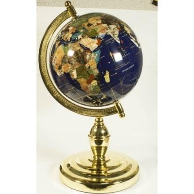 Глобус от полускъпоценни минерали - Модел 10