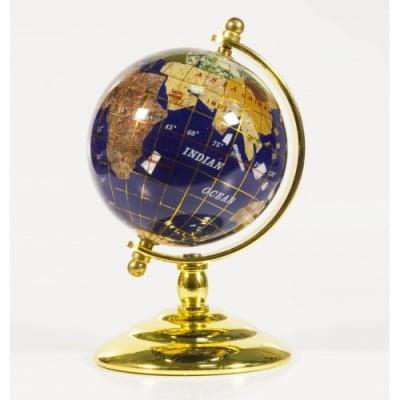 Глобус от полускъпоценни минерали - Модел 3