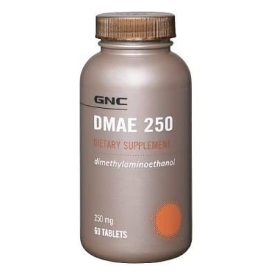 ДМАЕ - ДИМЕТИЛАМИНОЕТАНОЛ - за добра памет и концентрация - таблетки 250 мг. х 60, GNC