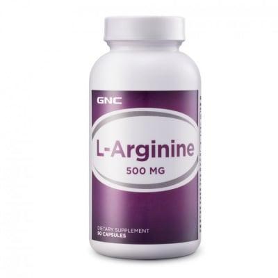 L - АРГИНИН 500 мг. - има съдоразширяващо действие * 90капс., GNC