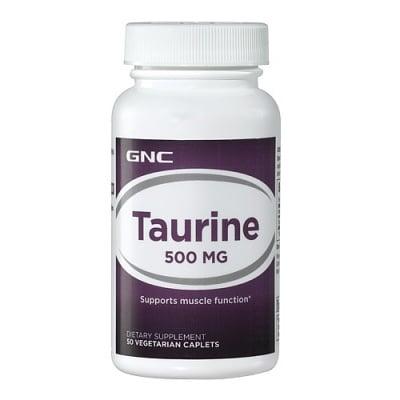 ТАУРИН - за по-добра концентрация и памет - капсули 500 мг. х 50, GNC