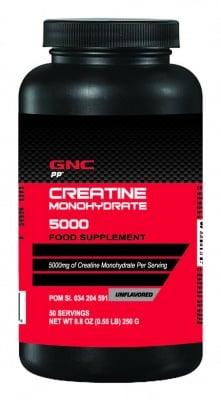 КРЕАТИН - увеличава физическата издръжливост - прах 250 гр., GNC