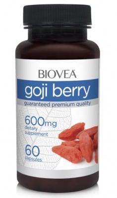 ГОДЖИ БЕРИ - богат на антиоксиданти, стимулира имунната система - капсули 600 мг. х 60, BIOVEA