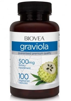 ГРАВИОЛА - повишава имунитета, има силно успокояващо действие - капсули 500 мг. х 100, BIOVEA