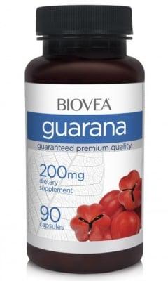 ГУАРАНА - възстановява организма от умората - капсули 200 мг. х 90, BIOVEA