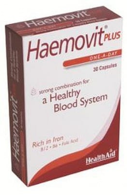 ХЕМОВИТ ПЛЮС - за здравословна кръвоносна система - капсули х 30, HEALTH AID