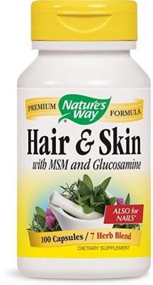 КОСА И КОЖА - за здрави и красиви коса,кожа и нокти - капсули х 100 бр., NATURE'S WAY