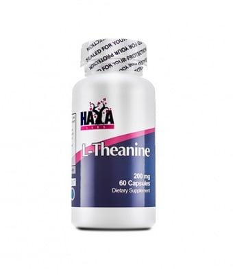 L - ТЕАНИН  - намалява стреса, подобрява паметта - капсули 200 мг. х 60, HAYA LABS
