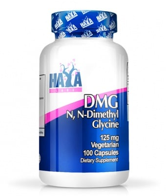 ХАЯ ЛАБС DMG /N-ДИМЕТИЛ ГЛИЦИН -  подкрепя множество функции в организма -  капсули 125 мг. х 100, HAYA LABS