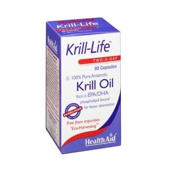 КРИЛ - ЛАЙФ - подпомага здравето на ставите, очите, мозъка и сърдечно-съдовата система - капсули х 60, HEALTH AID