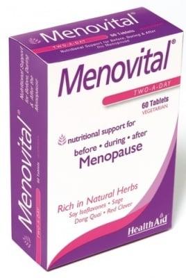 МЕНОВИТАЛ -  при менопауза и хормонални нарушения - таблетки х 60, HEALTH AID