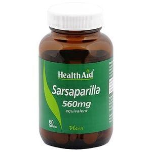 САРСАПАРИЛА – спомага за цялостната детоксикация на организма - таблетки 560 мг x 60, HEALTH AID