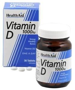 ВИТАМИН D3 - oказва ключово значение за развитието и минерализизацията на здрави зъби и кости - таблeтки х 30, HEALTH AID