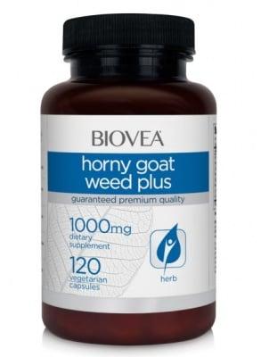 ХОРНИ ПЛЮС - стимулант за мъжкото и женското либидо - капсули х 120, BIOVEA