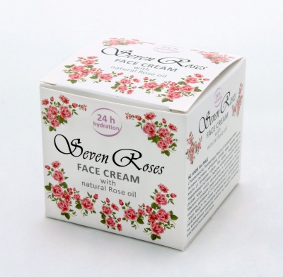 "ХИДРАТИРАЩ КРЕМ ЗА ЛИЦЕ ЗА СУХА КОЖА ""Seven Roses"" - 50 мл., GALLICANAE"