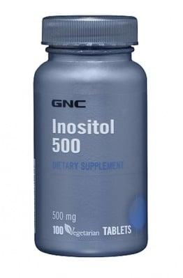 ИНОЗИТОЛ - подпомага преноса на хранителни вещества през клетъчните мембрани - таблетки 500 мг. х 100, GNC
