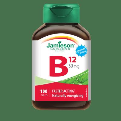 ВИТАМИН Б12 50 мкг. - превръща въглехидратите, протеините и мазнините в енергия * 100 таблетки