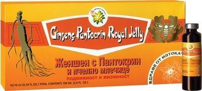 ЖЕН-ШЕН, ПАНТОКРИН  И ПЧЕЛНО МЛЕЧИЦЕ- спомага за намаляване на сковаността и болката в ставите - флакон 10 х 10 мл., TNT 21