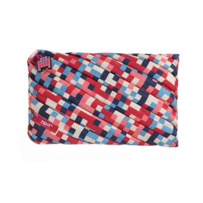Jumbo несесер Pixel, 23x2x15cm, синьо/ червено
