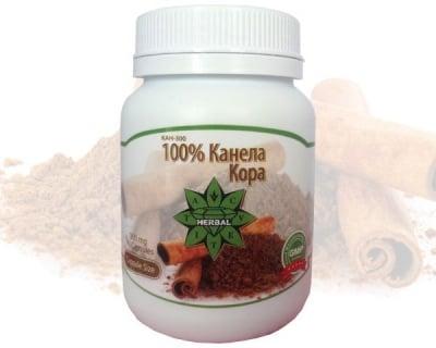 100% КАНЕЛА КОРА - потиска апетита и нормализира нивата на кръвна захар - капсули 300 мг. х 90, CVETITA