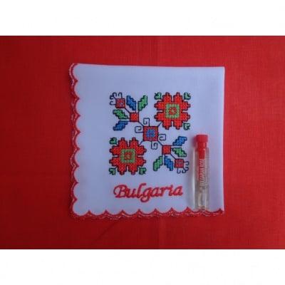 Копринена кърпичка с бродерия България, Bulgaria