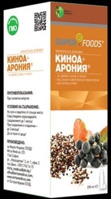 СИРОП КИНОА + АРОНИЯ - за здраво сърце и тонус - 200 мл., МИРТА МЕДИКУС