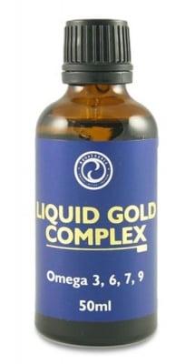 КОМПЛЕКС ТЕЧНО ЗЛАТО ОМЕГА 3, 6, 7, 9 - доставя необходимите мастни киселини - 50 мл., АКВАСОРС
