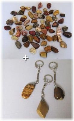 Комплект Ключодържател + Естествен камък НАТУРАЛЕН ЯСПИС