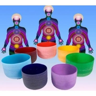 Цветни кристални пеещи купи - комплект, 20 см
