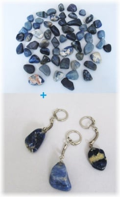 Комплект Ключодържател + Естествен камък СОДАЛИТ