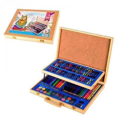 Комплект за оцветяване в дървен куфар /106 елемента/