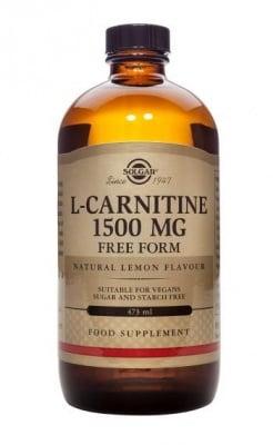 L - КАРНИТИН ТЕЧЕН 1500 мг подпомага дейността на сърцето и черният дроб * 473 мл., СОЛГАР