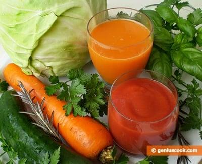 Лекуване с пресни сокове от зеленчуци