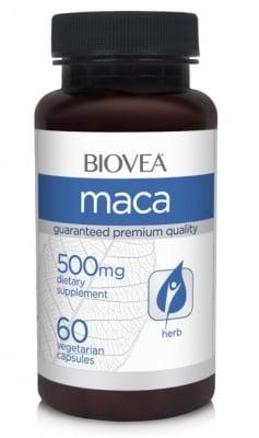 МАКА ОРГАНИК - подсилва либидото и сексуалната функция - капсули 500 мг. х 60, BIOVEA
