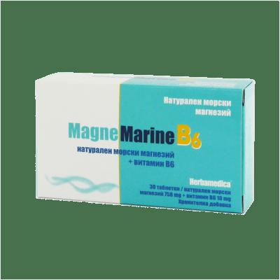 МАГНЕ МАРИН НАТУРАЛЕН МОРСКИ МАГНЕЗИЙ + ВИТАМИН В6 таблетки * 30 ХЕРБА МЕДИКА