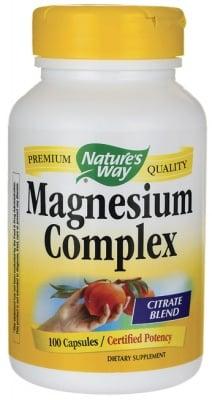 МАГНЕЗИЕВ КОМПЛЕКС - подобрява функционирането на сърдечно-съдовата и нервната система - капсули 250 мг. х 100, NATURE'S WAY