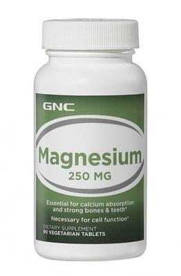 МАГНЕЗИЙ - подпомага сърцето и клетките - таблетки 250 мг. х 90, GNC