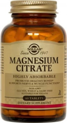 МАГНЕЗИЙ ЦИТРАТ - доставя необходимия магнезий на организма - таблетки х 60, SOLGAR