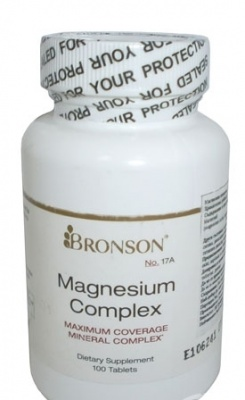 МАГНЕЗИЕВ КОМПЛЕКС - таблетки 300 мг. х 100, BRONSON