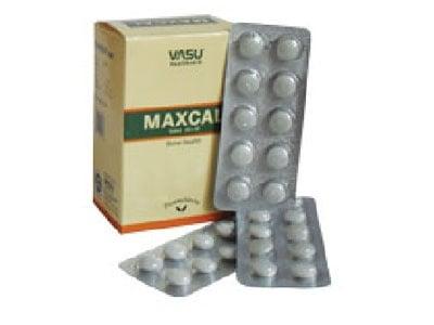 МАКСКАЛ НАТУРАЛЕН КАЛЦИЙ - подсилва минерализацията на костите - таблетки х 100, TNT  21
