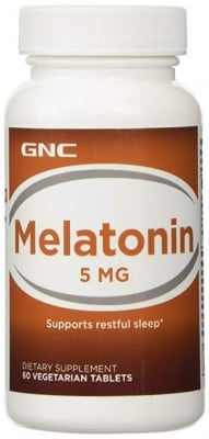 МЕЛАТОНИН - съкращава времето за заспиване - таблетки 5 мг. х 60, GNC